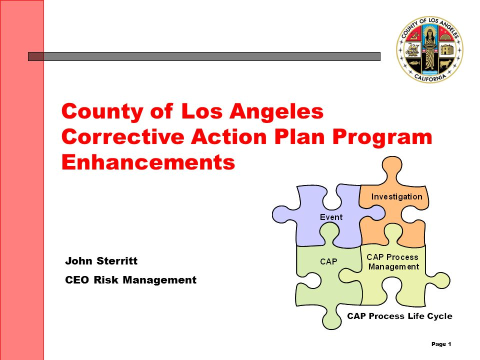 Page 2 Agenda What is a Corrective Action Plan What is a Summary Corrective Action Plan CAP/SCAP Confidentiality