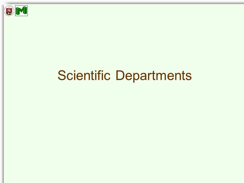 Scientific Departments
