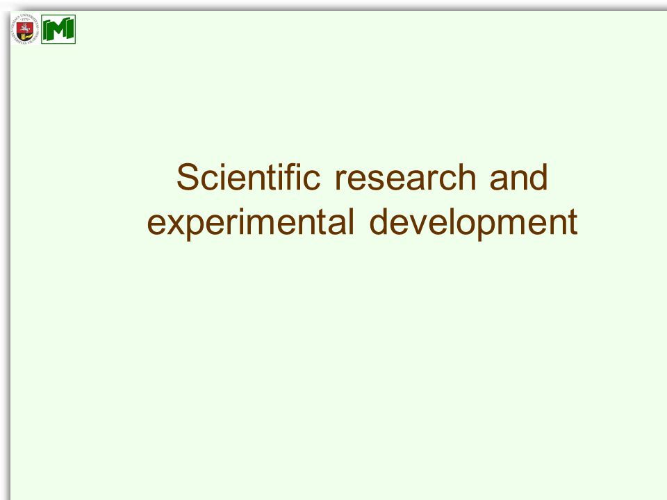 Scientific research and experimental development