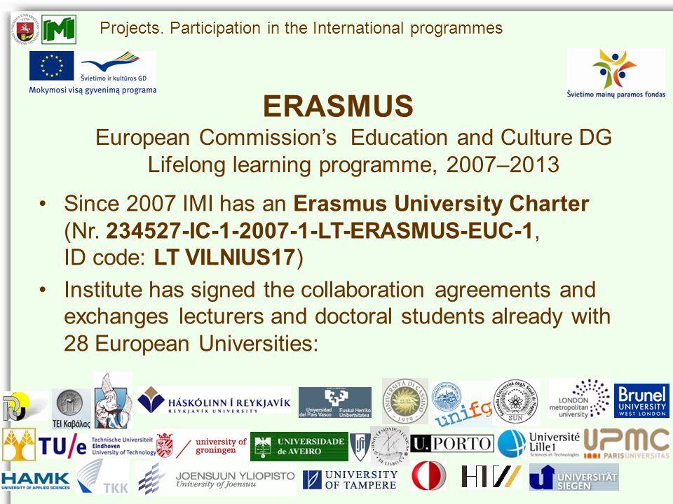 ERASMUS Projects.