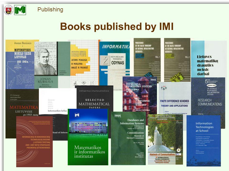 Publishing Books published by IMI