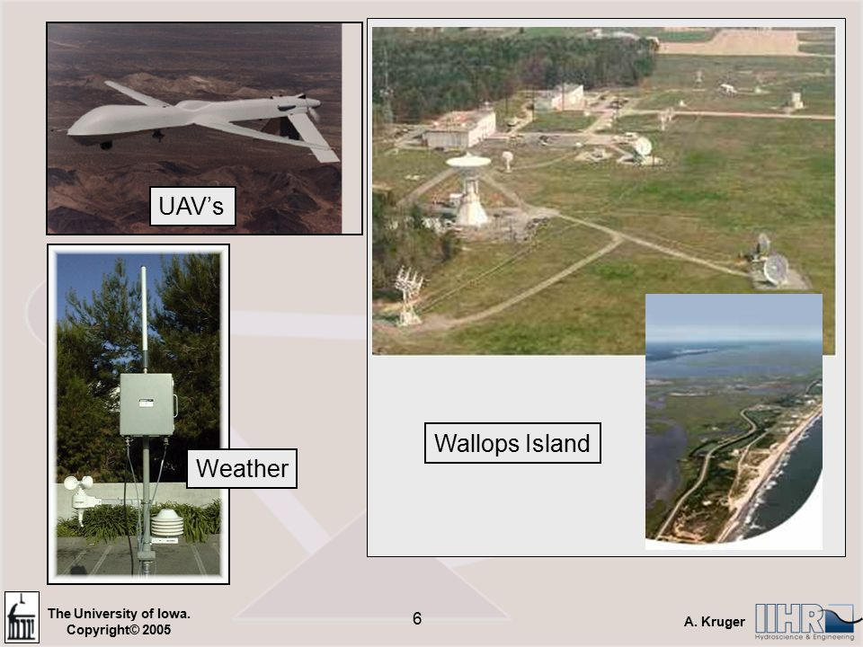 The University of Iowa. Copyright© 2005 A. Kruger 6 Wallops Island UAV's Weather