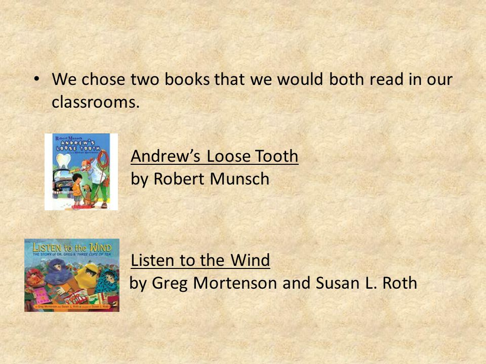 We each chose two additional books to read in our own classrooms.