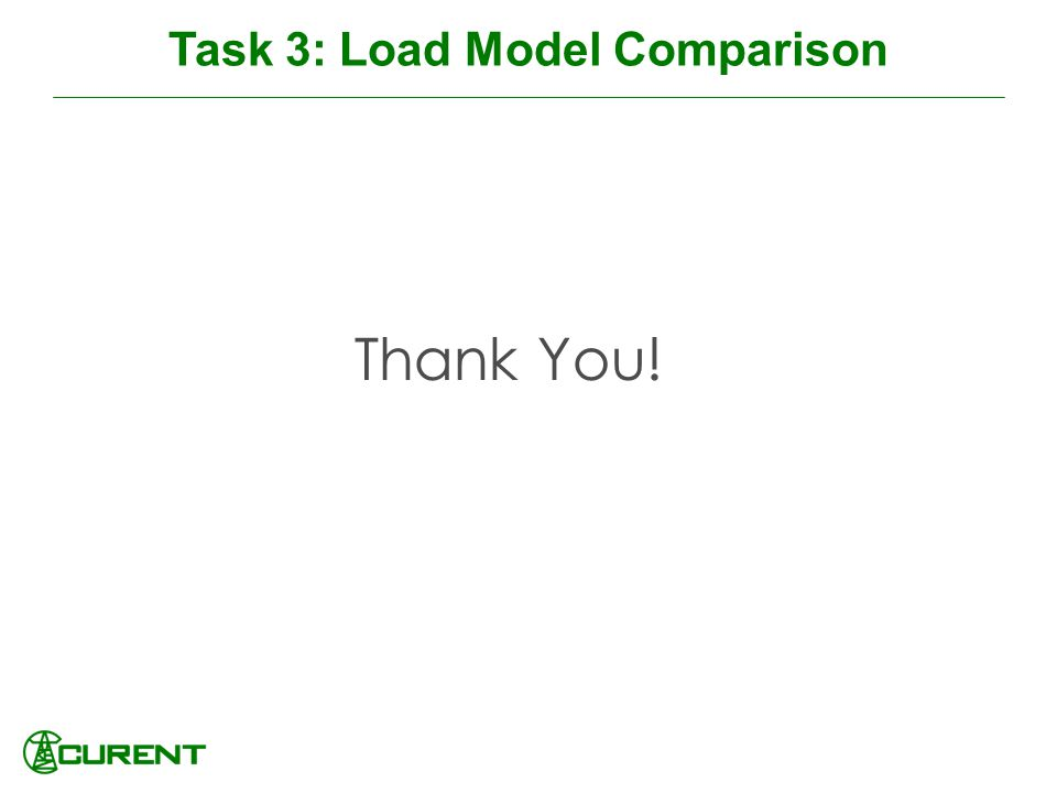 Task 3: Load Model Comparison Thank You!