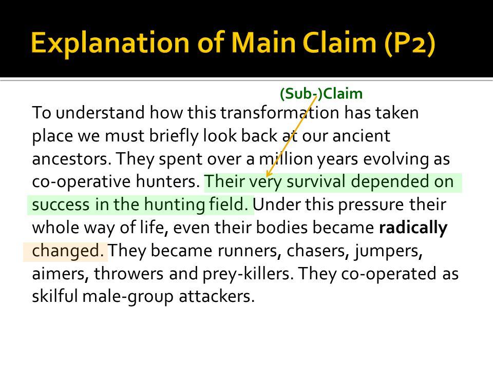 (Sub-)Claim