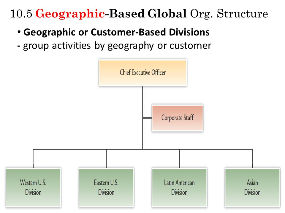 10.5 Geographic-Based Global Org.