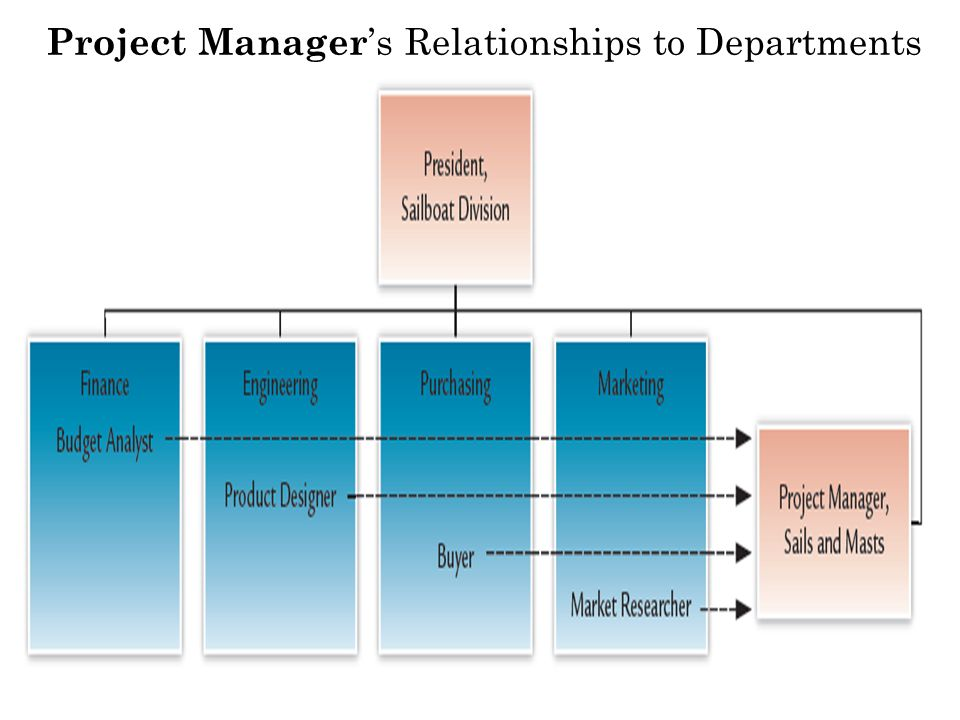 Project Manager 's Relationships to Departments