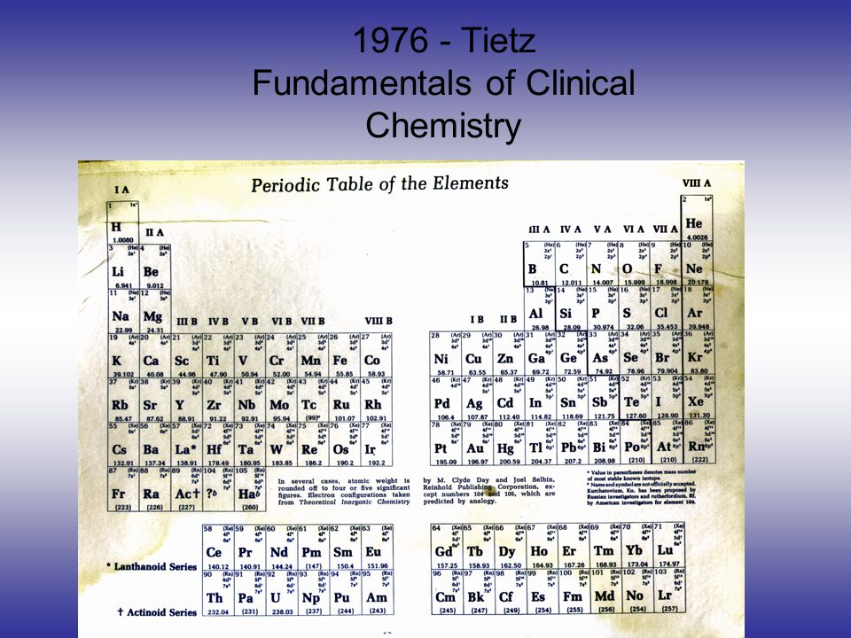 1976 - Tietz Fundamentals of Clinical Chemistry