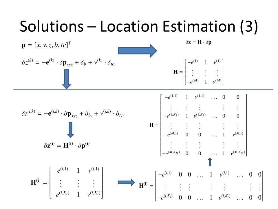 Solutions – Location Estimation (3)