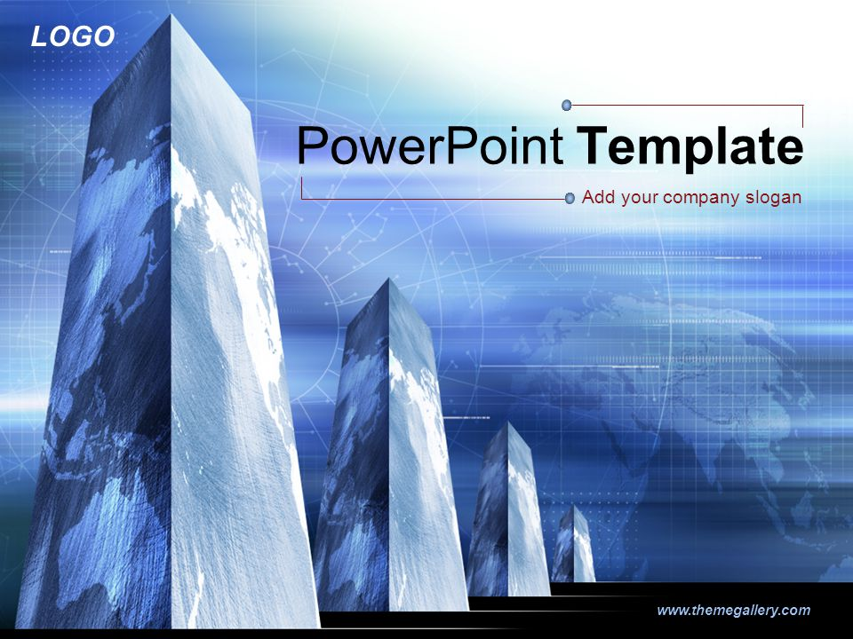 LOGO www.themegallery.com PowerPoint Template Add your company slogan