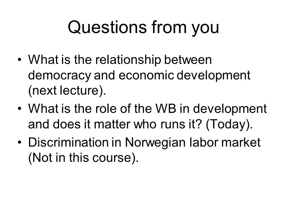 Possible exam questions Jensen and Oster (2009) analyze whether cable TV affects women's status.