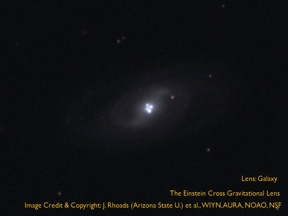 The Einstein Cross Gravitational Lens Image Credit & Copyright: J.