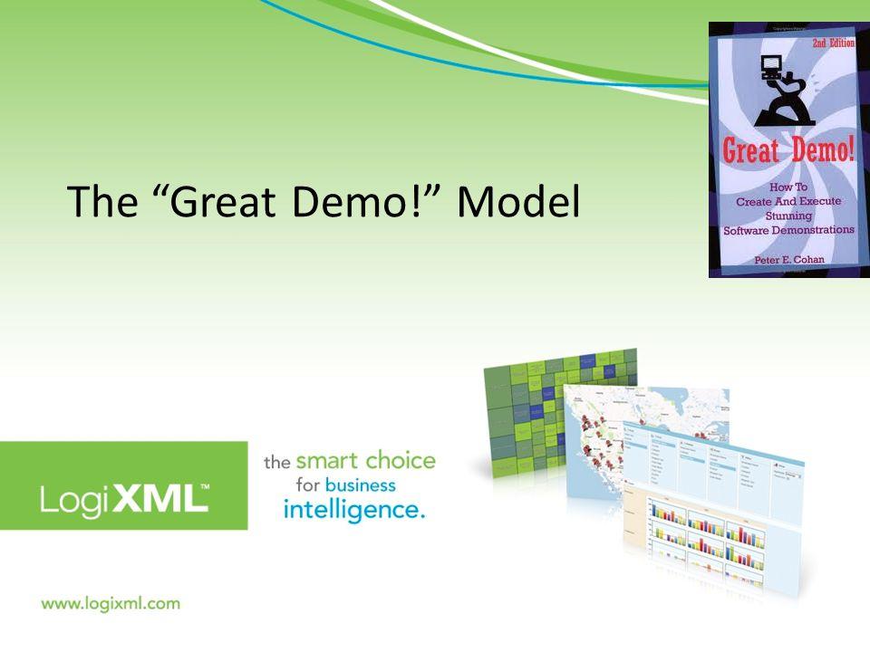The Great Demo! Model 7900 Westpark Drive, Suite T107 McLean, VA 22102 | www.logixml.com