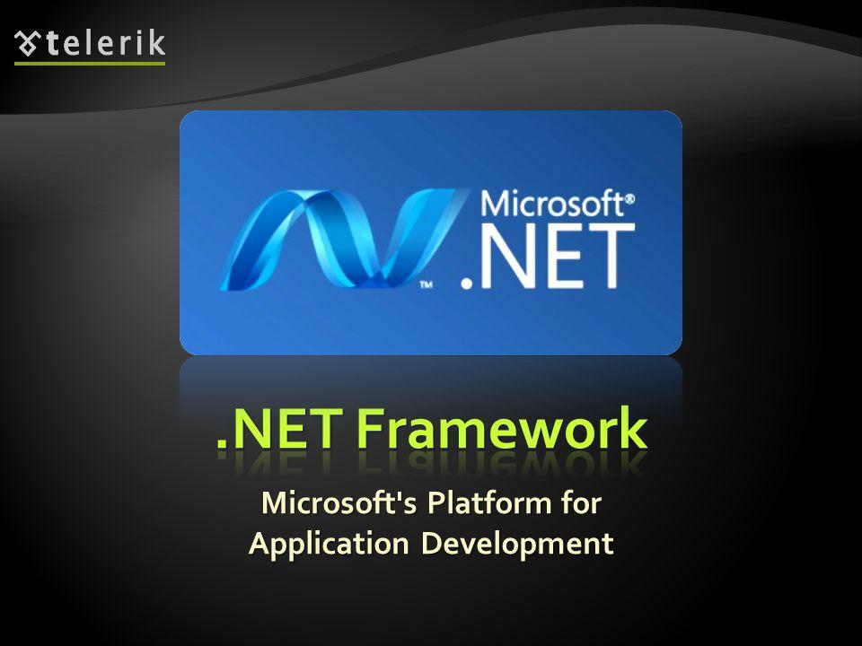 Microsoft's Platform for Application Development