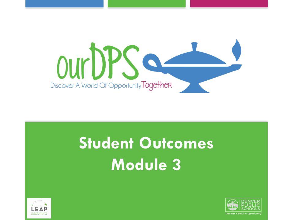 Student Outcomes Module 3