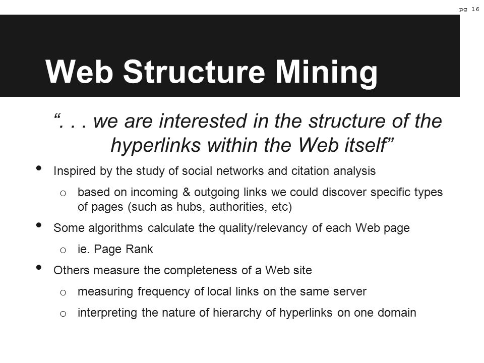 Web Structure Mining ...