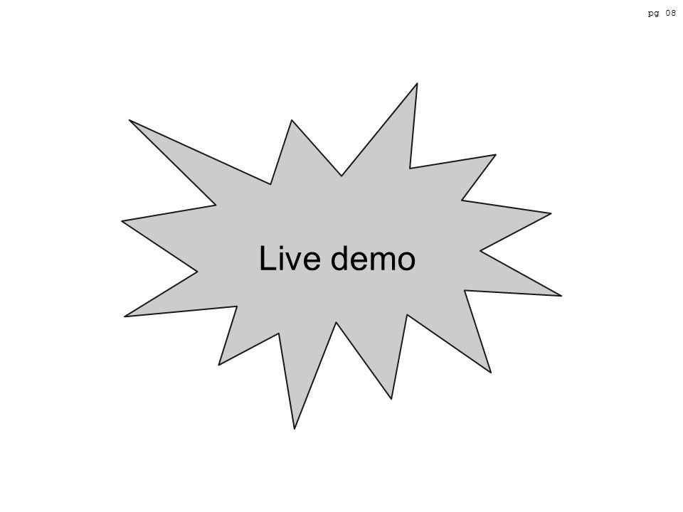 Live demo pg 08