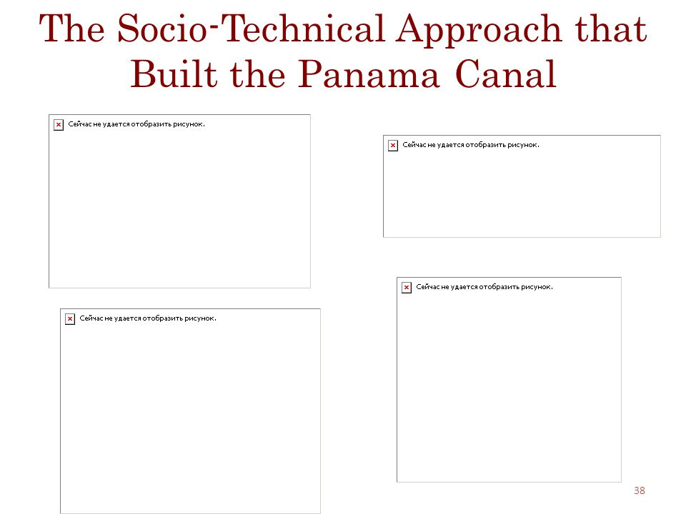 The Socio-Technical Approach that Built the Panama Canal 38