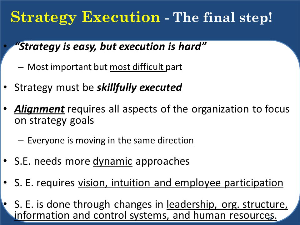 Six Silent Killers of Strategy 29