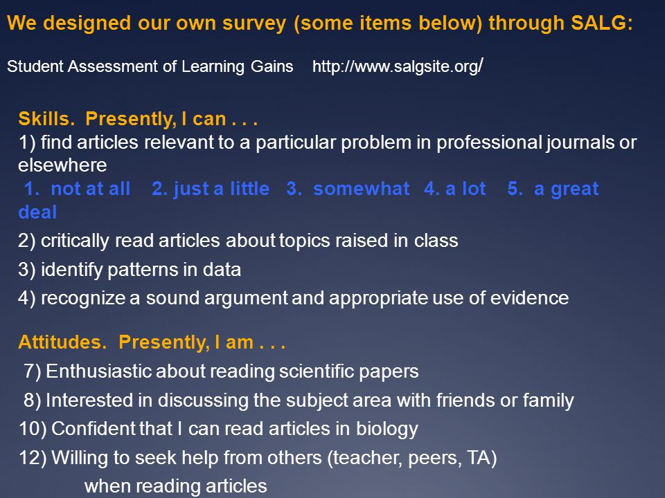 Classroom models for teaching with primary literature C.