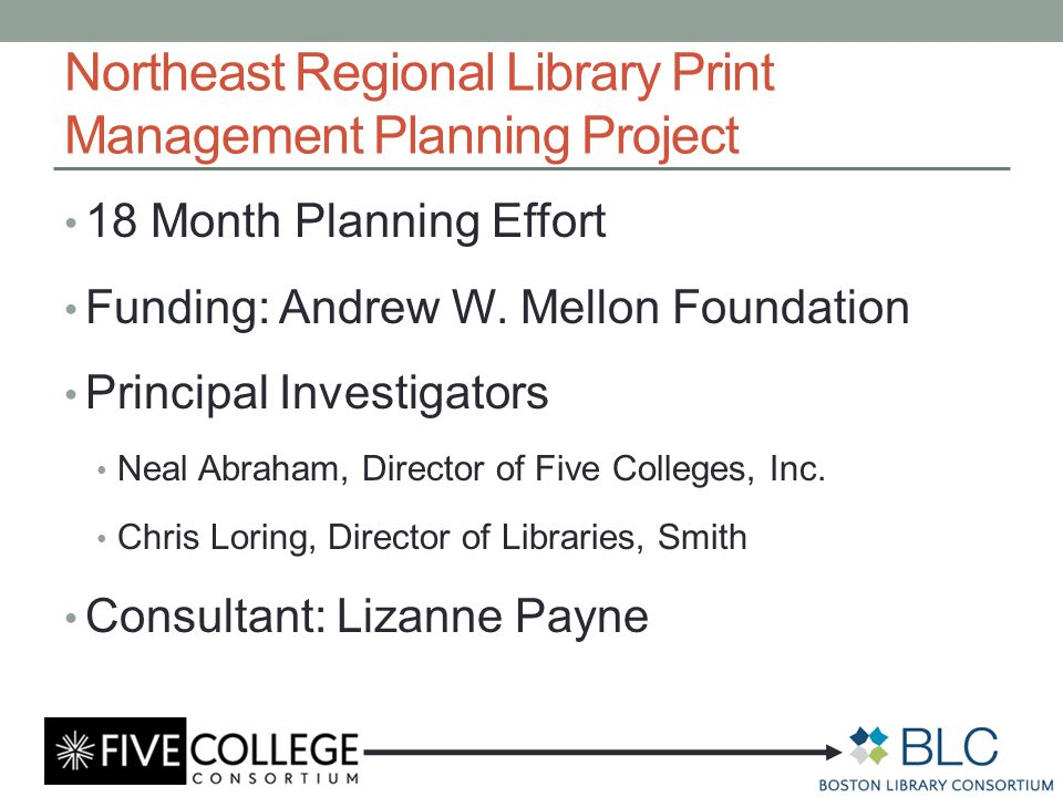 Northeast Regional Library Print Management Planning Project What is the interest in shared storage of print materials with particular emphasis on monographs.