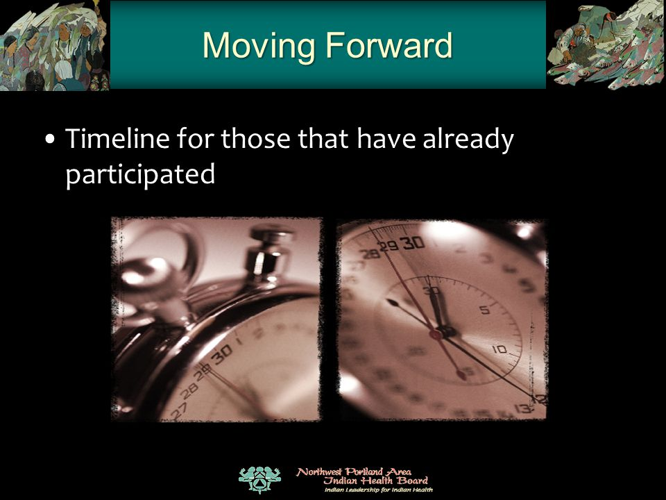 Moving Forward Timeline for those that have already participated