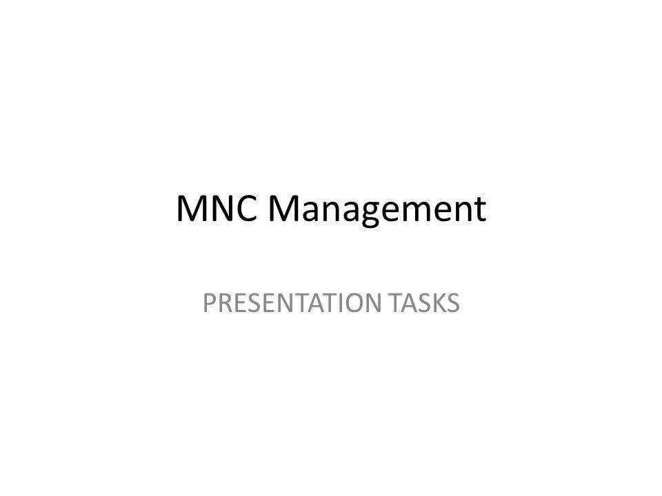 Multinational Management Session 2Strategic Management & Structure Group presentations: GROUP 1.
