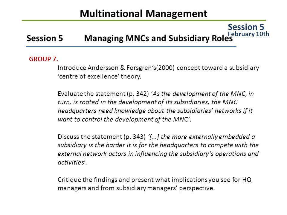 Multinational Management GROUP 8.