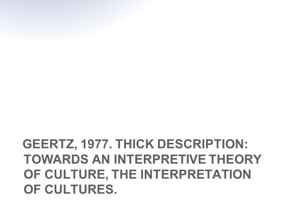 GEERTZ, 1977.