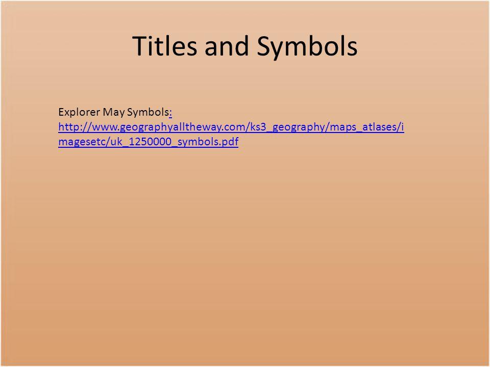 Titles and Symbols