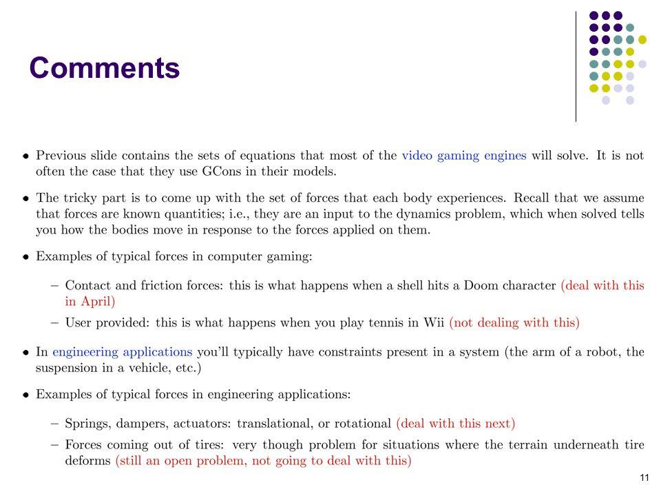 Comments 11
