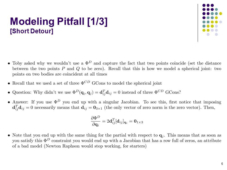 Modeling Pitfall [1/3] [Short Detour] 6