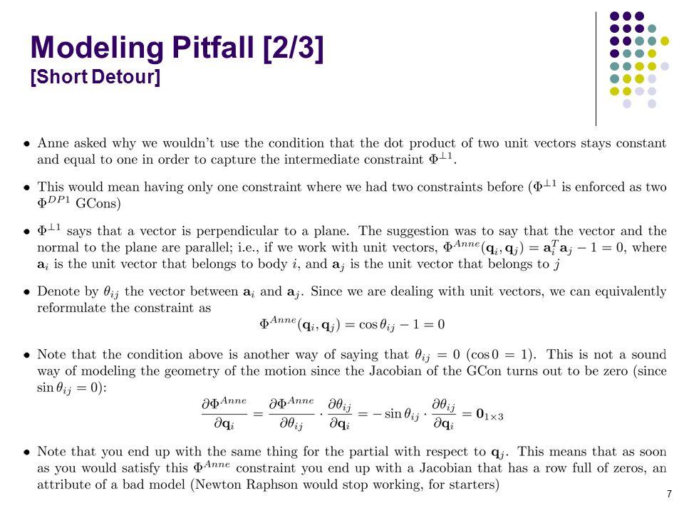 Modeling Pitfall [2/3] [Short Detour] 7