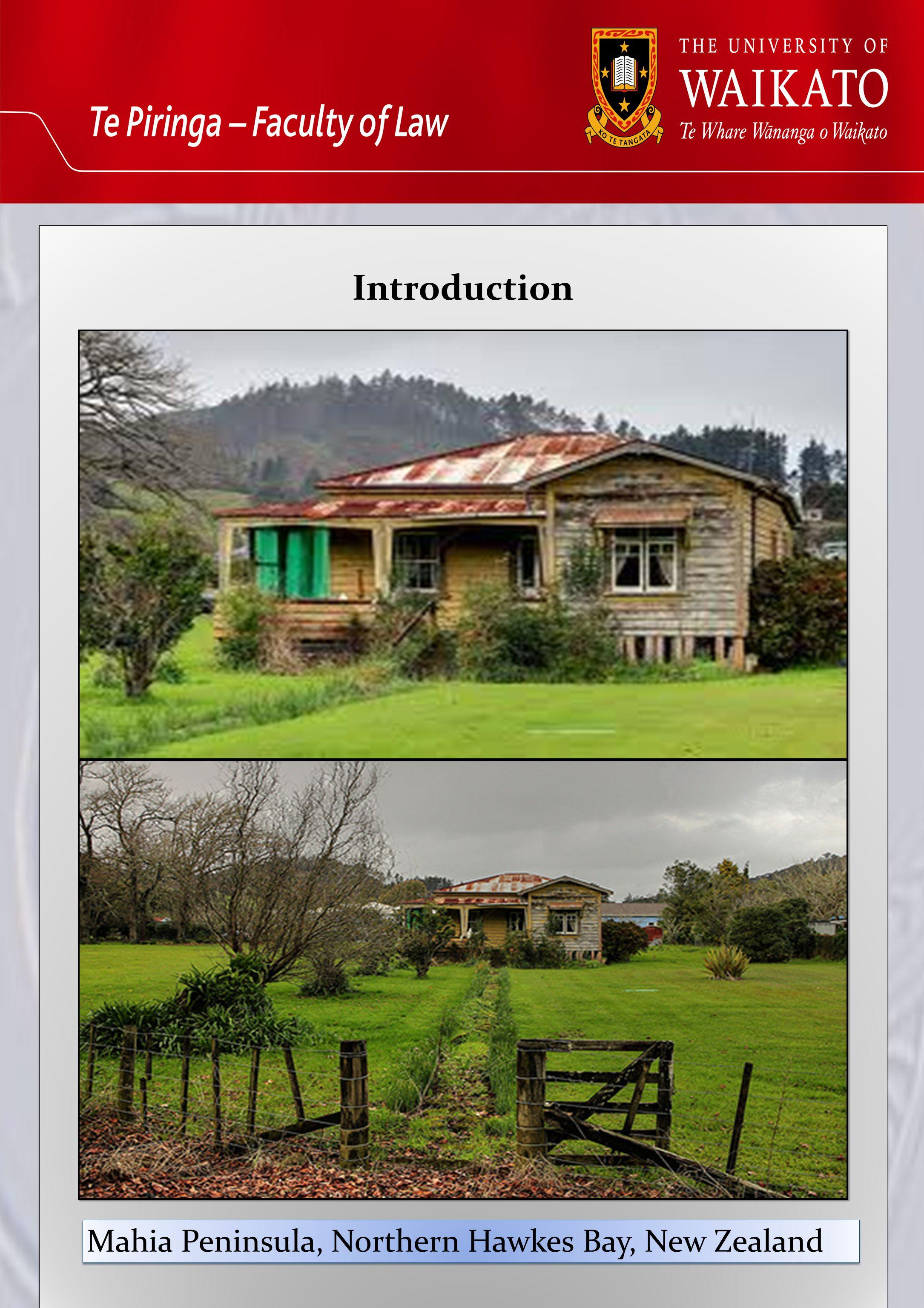 Introduction Introduction Mahia Peninsula, Northern Hawkes Bay, New Zealand