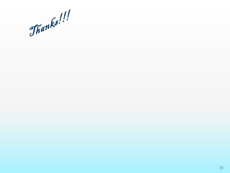 16 Thanks!!!
