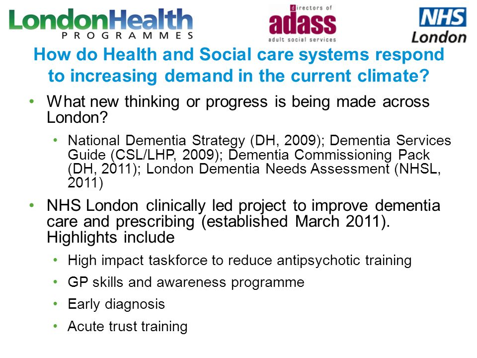 How do Health and Social care systems respond to increasing demand in the current climate? What new thinking or progress is being made across London?