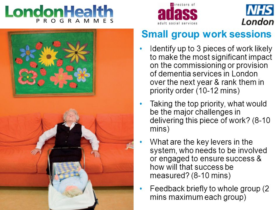 Identify up to 3 pieces of work likely to make the most significant impact on the commissioning or provision of dementia services in London over the n