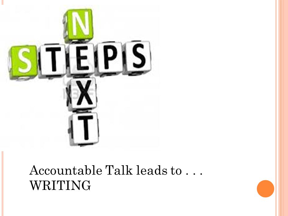 Teach s Accountable Talk leads to... WRITING