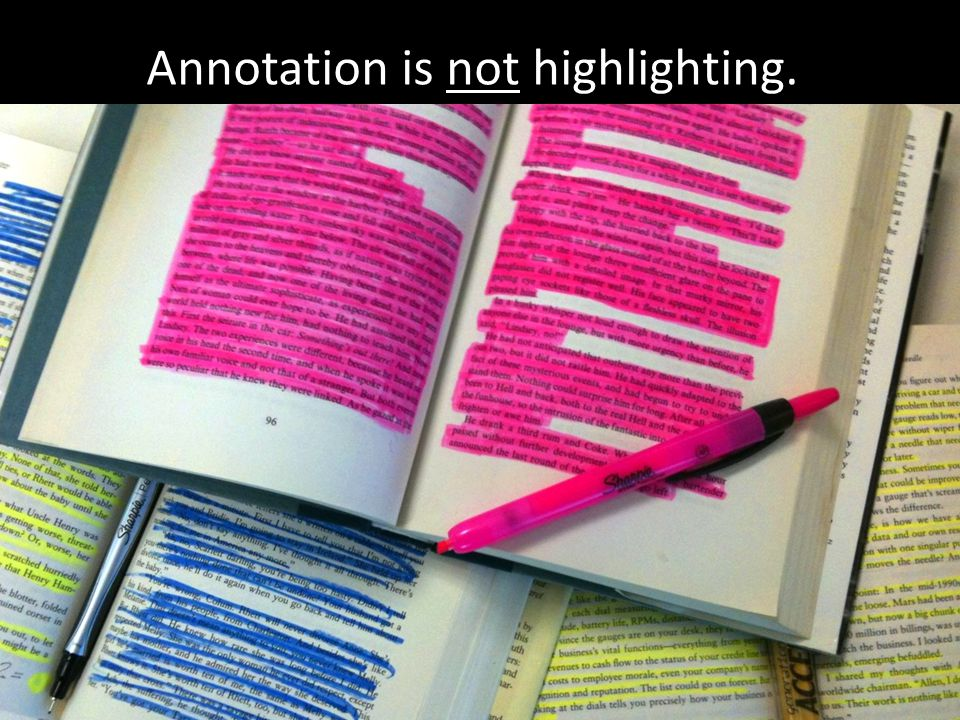 Annotation is not highlighting.