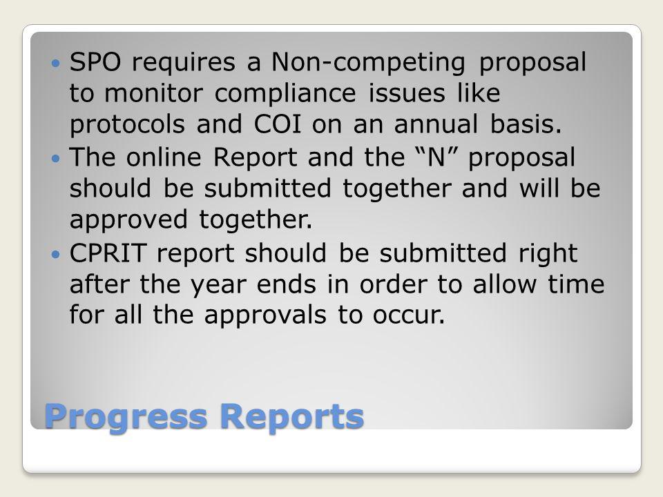 Progress Report Tabs