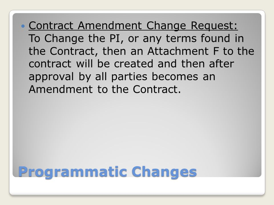 PLOE Changes Change in Key Personnel Level of Effort: People can be added, deleted and the percent of effort on the project changed by updating the online table and providing a Justification.
