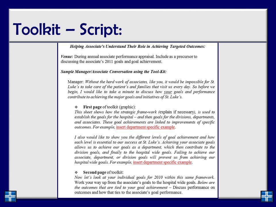 Toolkit – Script: