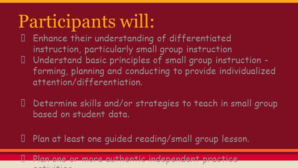 How do you differentiate.Think about the ways you differentiate instruction in the classroom.