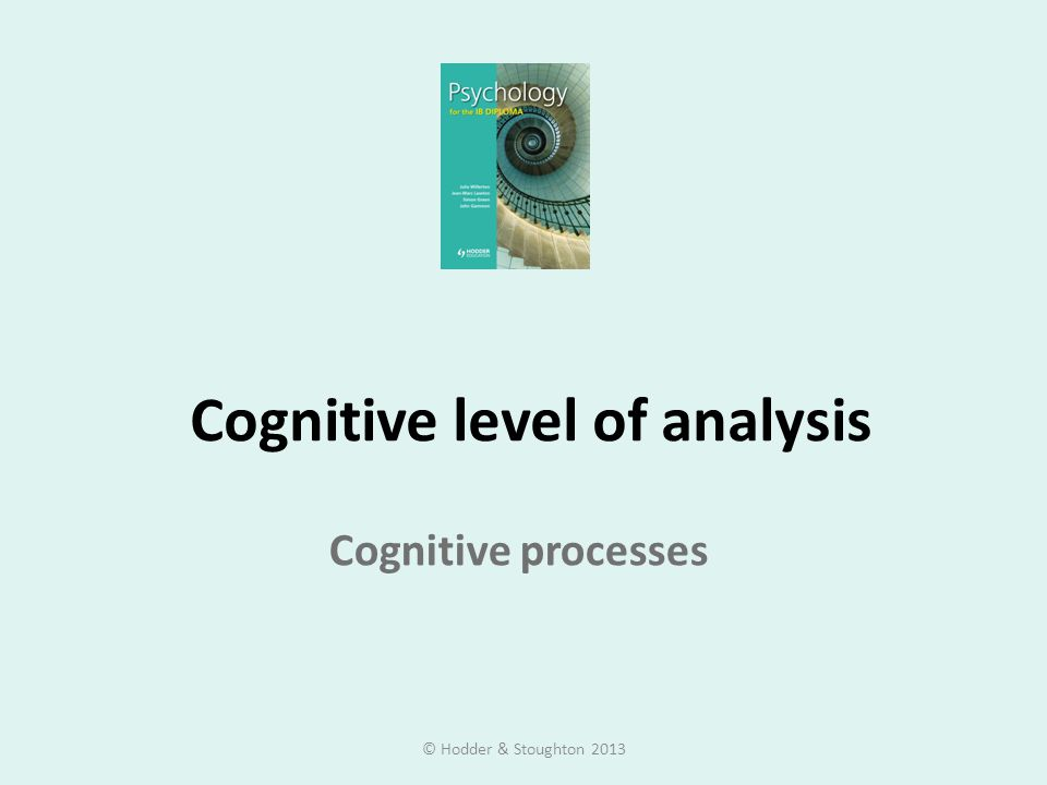 Cognitive level of analysis Cognitive processes © Hodder & Stoughton 2013
