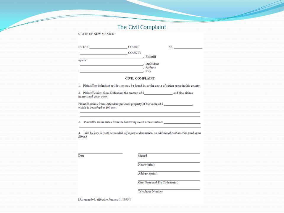 The Civil Complaint