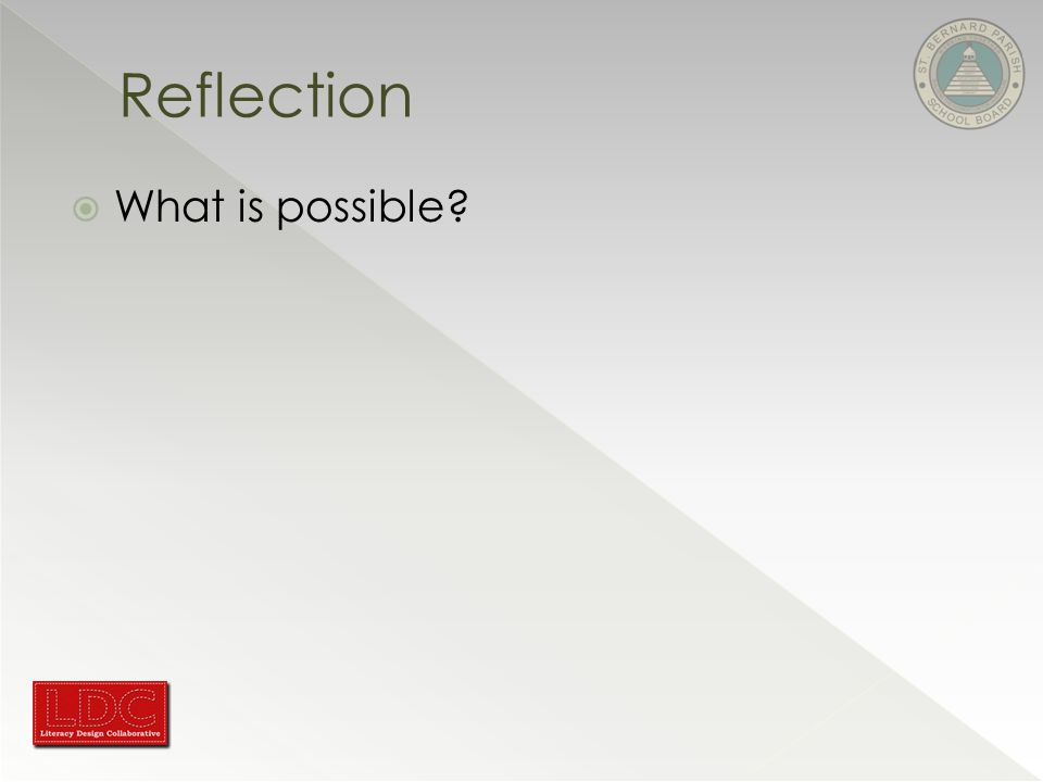  What is possible Reflection