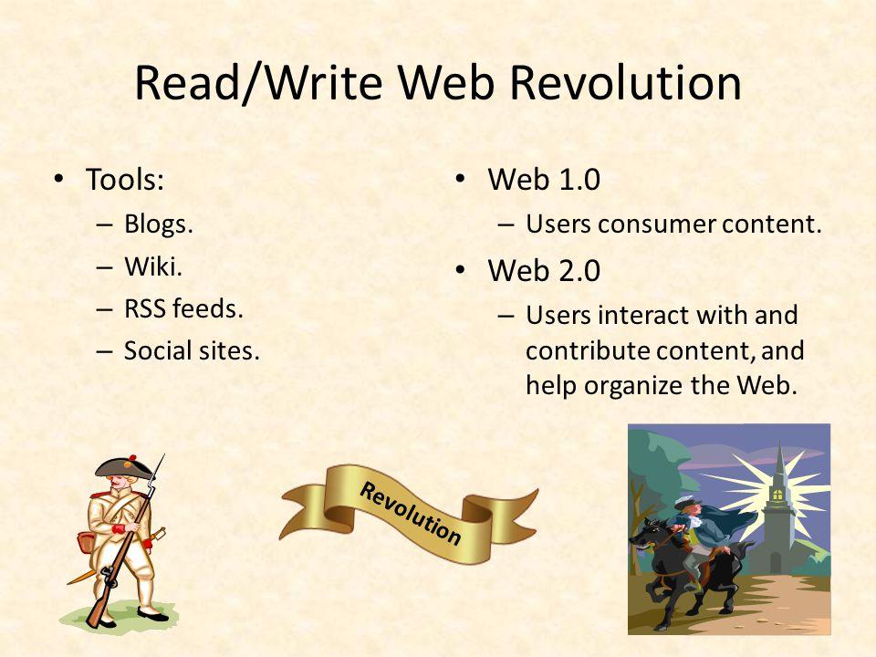 Read/Write Web Revolution Amazon.com – Sells products.
