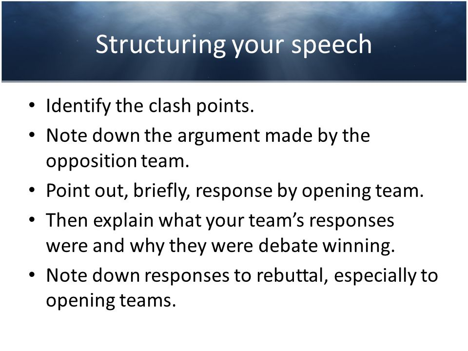 Delivering your speech 1.