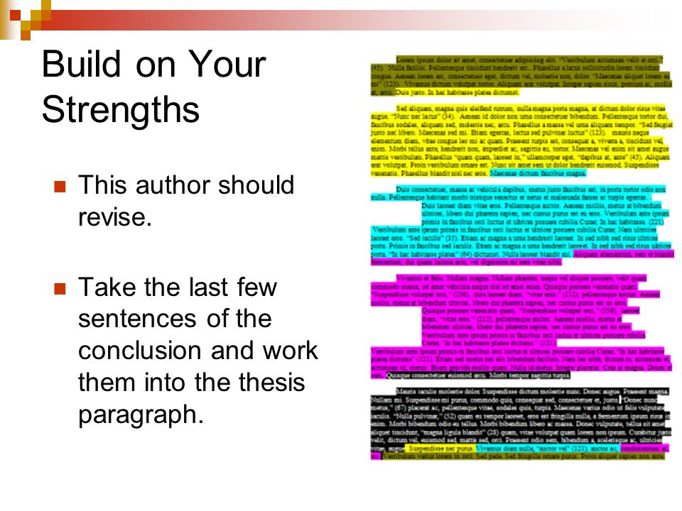 Build on Your Strengths This author should revise.