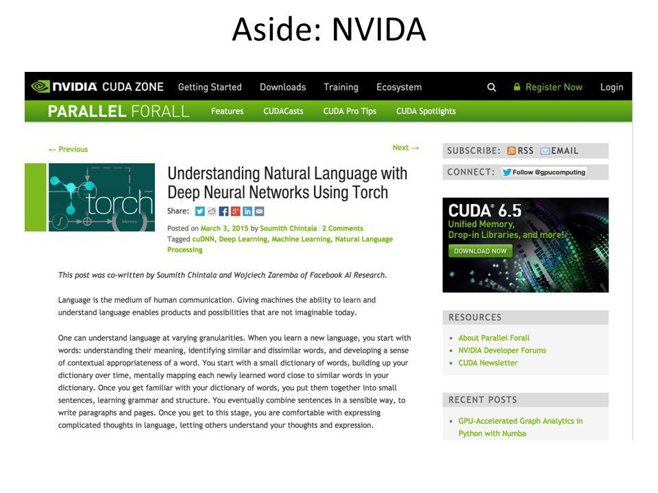Aside: NVIDA